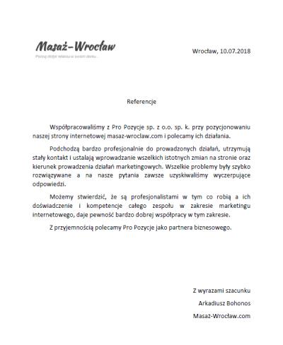 Masaż Wrocław rekomendacje