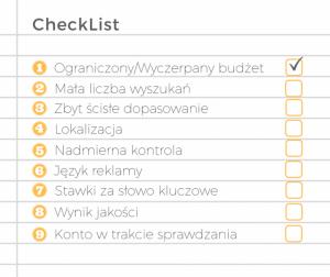 checklist dla reklamy AdWords