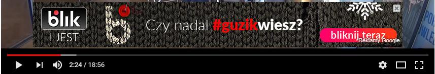 przykład reklamy AdWords na Youtube